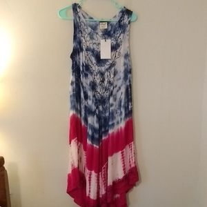 Beach by Exist Sleeveless Tie Dye Maxi Dress NWT